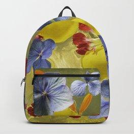 Flowers in golden shine Backpack