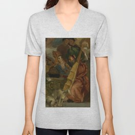 "Eugène Delacroix ""Musicians, after Veronese, a detail from The Marriage at Cana"" Unisex V-Neck"