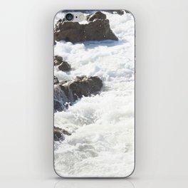 White water, dark rocks iPhone Skin