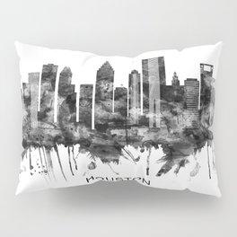 Houston Texas Skyline BW Pillow Sham