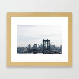 Manhattan Bridge Framed Art Print