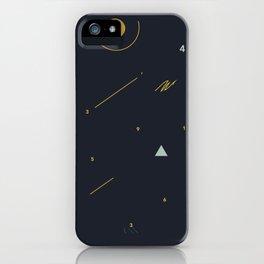 minimalist black #4 iPhone Case
