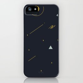 minimalist black #4 iPhone Case