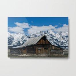 Barn on Mormon Row, Grant Teton National Park Metal Print