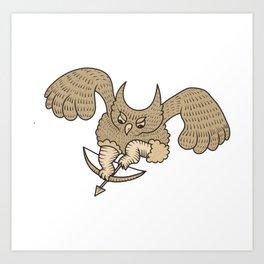 Slavic owl Art Print