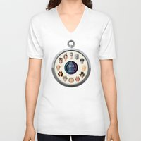 dr who V-neck T-shirts featuring Dr. Who Fob by jasonkimart
