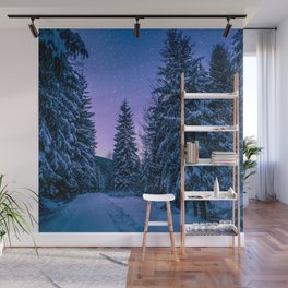 Winter-Snow-Trees Wall Mural