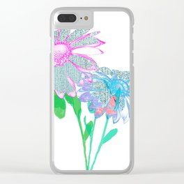 Floral abstract 96 Clear iPhone Case