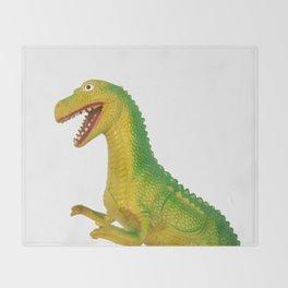 Hong Kong T-Rex Throw Blanket