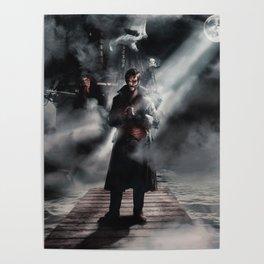 Halloween Captain Hook Poster