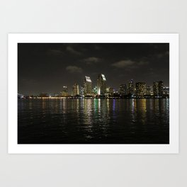San Diego Lights  Art Print