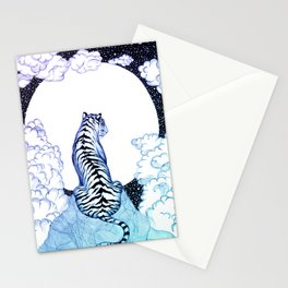 Ombre Tiger Moon Stationery Cards