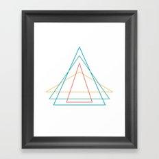 4 triangles Framed Art Print