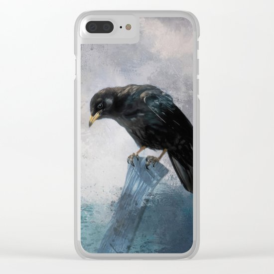 Black Crow Clear iPhone Case