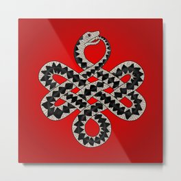 knotted adder Metal Print
