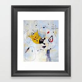 Cat. Inspired By Joan Miro Framed Art Print