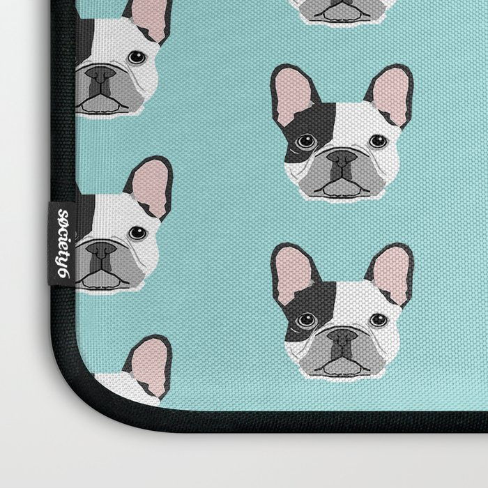 Frenchie black and white french bulldogs french bulldog gifts for dog lovers Laptop Sleeve