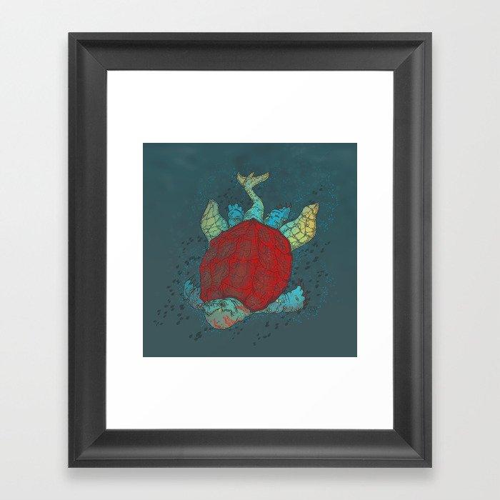 The Red Colossus Testudine Framed Art Print