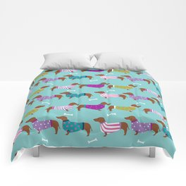 Dachshund sweaters cute gifts for dog lover pet friendly dog breed dachsie doxie dogs Comforters