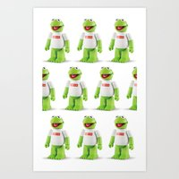 kermit Art Prints featuring Kermit by MrWhite