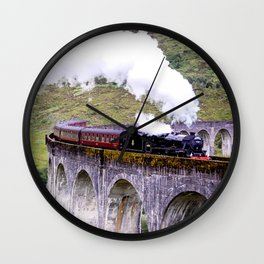 Jacobite Train Wall Clock