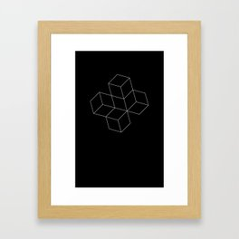 Cubes - White Framed Art Print