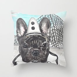 Roscoe the French Clown Throw Pillow
