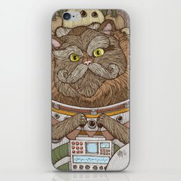 Commander Whiskers iPhone Skin