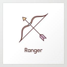 Cute Dungeons and Dragons Ranger class Art Print