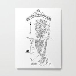 Van Cortlandt Park Cross-Country Course Map Metal Print