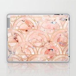 Peachy Marble (foor) Laptop & iPad Skin
