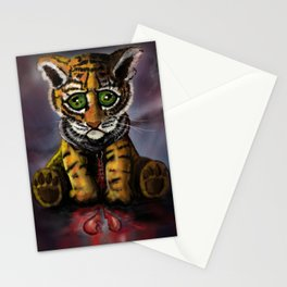 Sad Baby Tiger Stationery Cards
