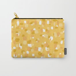 Random Spots in Mustard Yellow and Apricot Carry-All Pouch