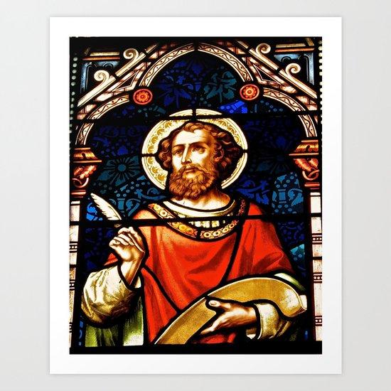 Saintly Glass Art Print