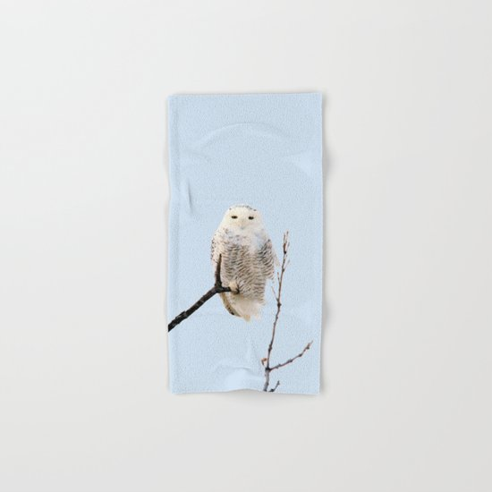 Snowy in the Wind (Snowy Owl) Hand & Bath Towel