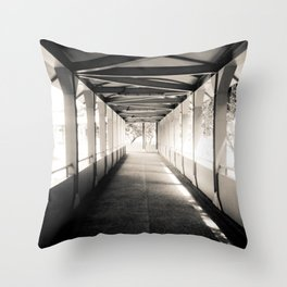 Bridging Lines Throw Pillow