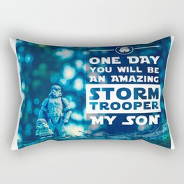 Quote - One day you will be an amazing stormtrooper Rectangular Pillow