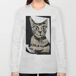 Newspaper Cat Long Sleeve T-shirt
