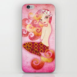 Coraleen, Mermaid in Pink iPhone Skin