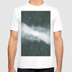 Forest Reflections IV MEDIUM Mens Fitted Tee White
