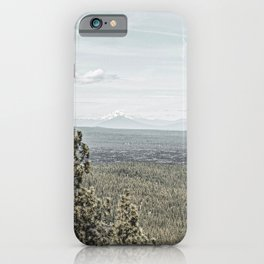 True Grain // Gritty Desaturated Detail of the Oregon Coast Mountains and Woods iPhone Case