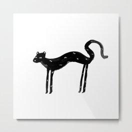 Slinky Panther Metal Print