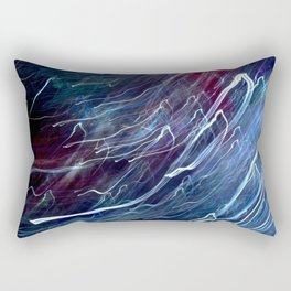 Abstract Moving Into The Slipstream Rectangular Pillow