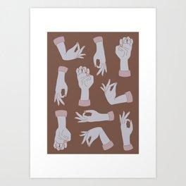 Circle Game Hands Print Art Print