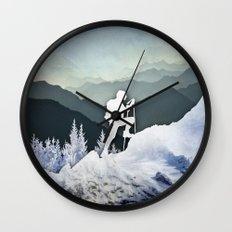 Winter Mountains Wall Clock