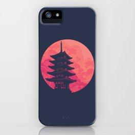 Pagoda Sunset 2 iPhone Case