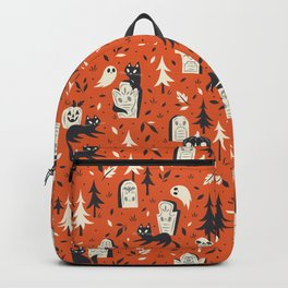 Cemetery Cuties (Orange) Backpack