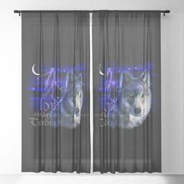 Lord of the Arctic Tundra Sheer Curtain