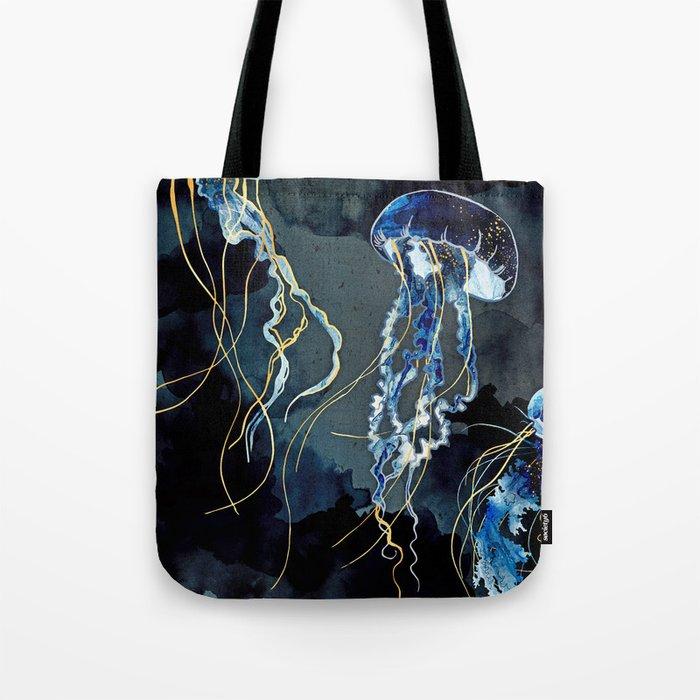 Metallic Ocean III Tote Bag
