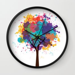 Colorful Tree Wall Clock